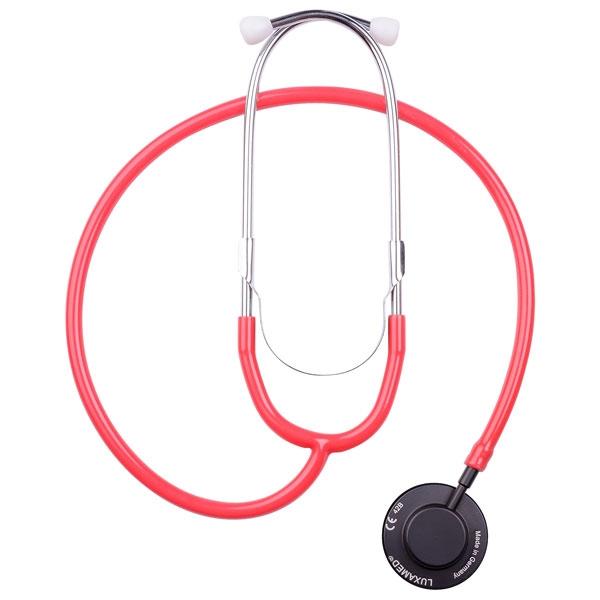Stethoskop mit Einmal-Wechsel-Membran-System - rot - LuxaScope Sonus Flat Flex