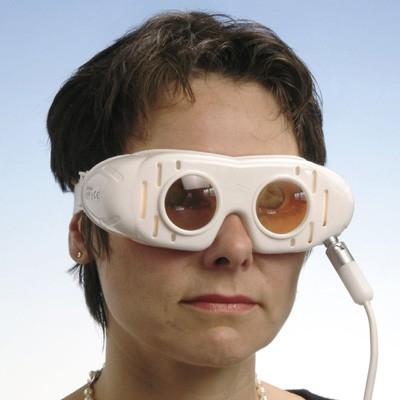 Nystagmusbrille nach Dr. Blessing Typ 521 mit festen Gläsern und Anschlusskabel