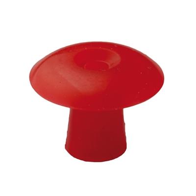 Ohrstöpsel mit geradem Schirm 15 mm, rot