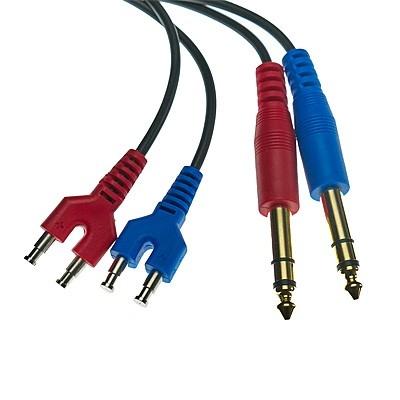 Kabel mit 2 x 6,3 mm stereo Klinkenstecker für ohraufliegenden TDH39/DD45