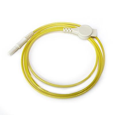 Elektrodenkabel, gelb, 100 cm mit Druckknopfadapter und DIN-Stecker