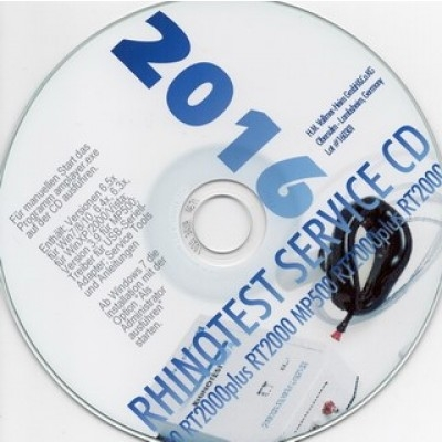 Service CD Rhinotest 2000 mit Software Version 6.5.9