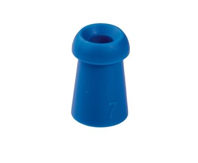 Ohrstöpsel mit rundem Schirm 7 mm, blau