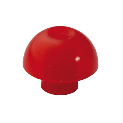 Ohrstöpsel mit rundem Schirm 14 mm, rot