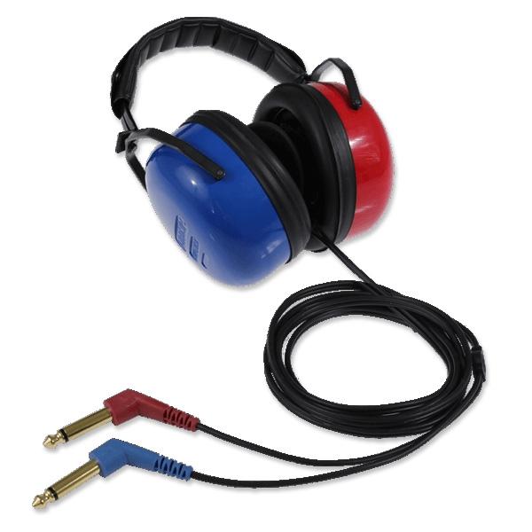 Radioear DD45AA Audiometrie-Kopfhörer, 2x 6,3 mono Klinke, mit Amplivox-Kappen