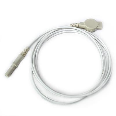 Elektrodenkabel, weiß, 100 cm mit Druckknopfadapter und DIN-Stecker