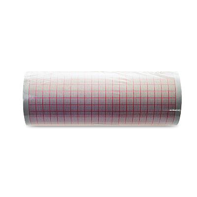 Papierrolle 114 mm breit, roter Millimeter-Druck