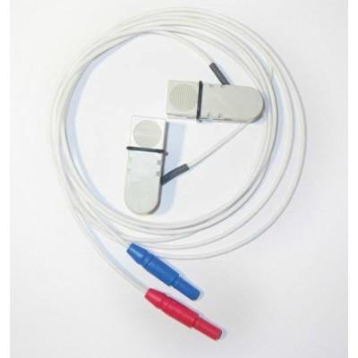 Gesinterte AgCl Ohrelektrode Anschluss 1,5 mm DIN Sicherheitsstecker