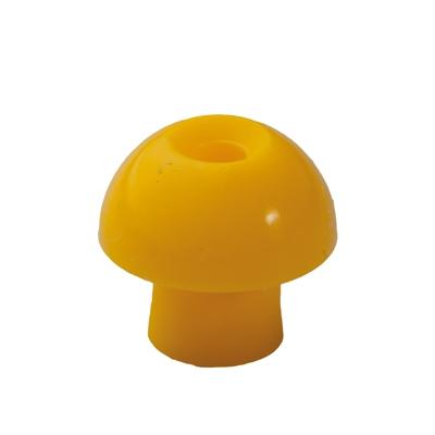 Ohrstöpsel mit rundem Schirm 12 mm, gelb