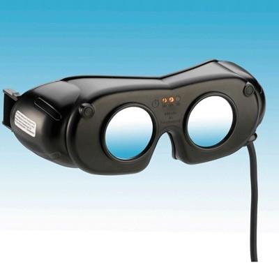 LED-Nystagmusbrille Typ 801-S mit Kabel und Netzteil, Farbe: schwarz