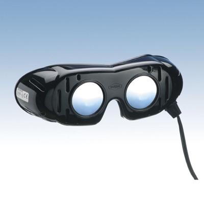 Nystagmusbrille nach Prof. Frenzel, Typ 501 mit festen Gläsern und Anschlusskabel
