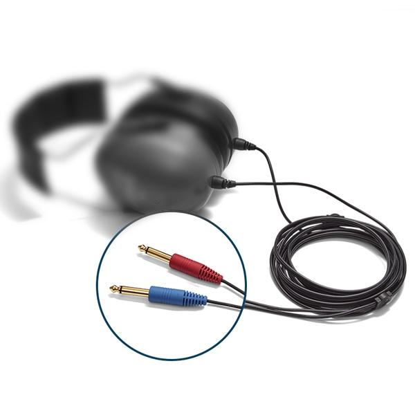 Ersatzkabel 2x 6,3 mm gerade Mono-Klinkenstecker für Radioear Schallschutzkappen