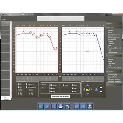 Software evidENT2 - Grundmodul Audiometrie inklusive Stammdatenverwaltung