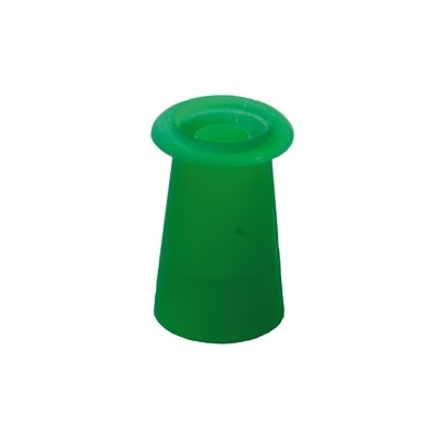 Ohrstöpsel mit geradem Schirm 7,5 mm, grün