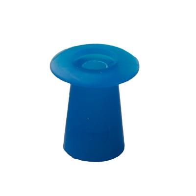 Ohrstöpsel mit geradem Schirm 10 mm, blau
