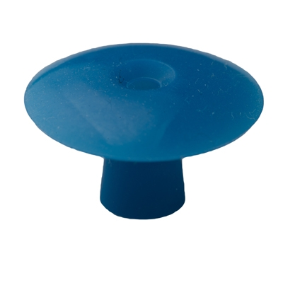 Ohrstöpsel mit geradem Schirm 19 mm, blau