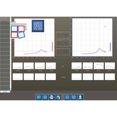Software evidENT2 - Grundmodul Tympanometrie zum Anschluß an versch. Tympanometer