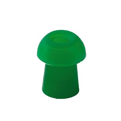 Ohrstöpsel mit rundem Schirm, 9 mm, grün