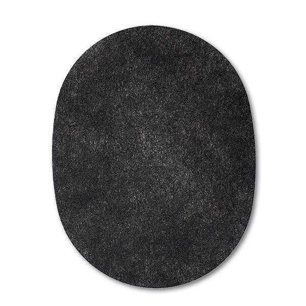 Vlies schwarz, oval, für Kopfhörer HDA200 von Sennheiser